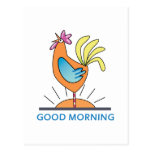 Cute Good Morning Rooster Postcard