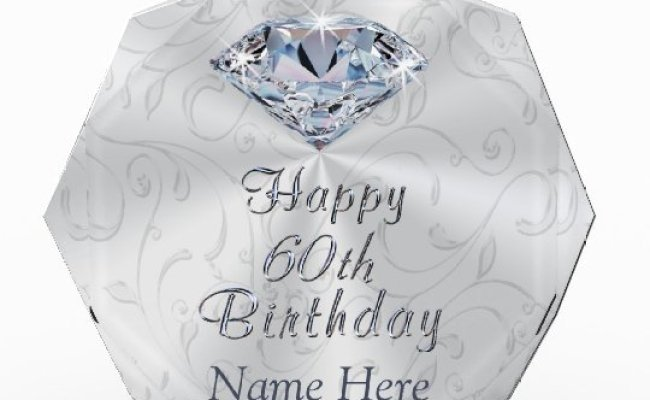 Gorgeous Personalized 60th Birthday Gifts For Her Zazzle