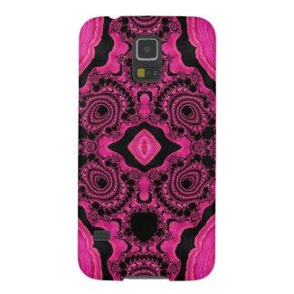 Gorgeous Pink/Black Fractal Samsung Galaxy5/5 case
