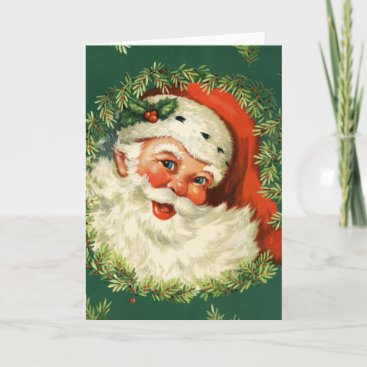 Gorgeous Vintage Santa Claus Image Holiday Card