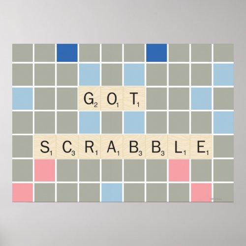 Got Scrabble Poster by Scrabble™