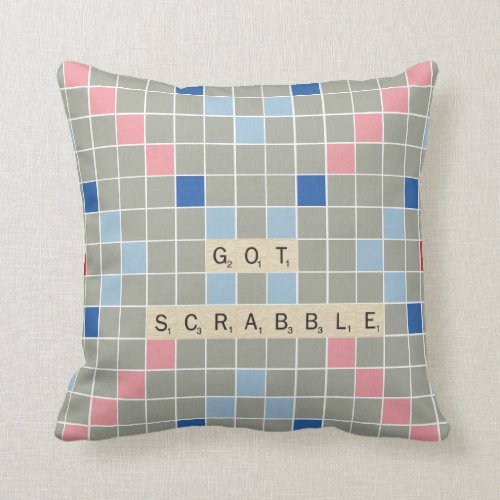 Got Scrabble Throw Pillow