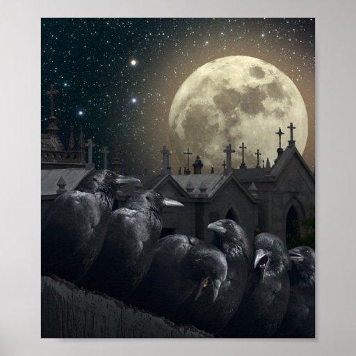 Gothic Crows Mini Poster Zazzle
