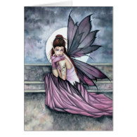 Gothic Fairy Moon Card by Molly Harrison