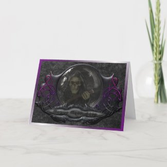 Gothic Halloween Greeting Card