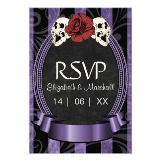Gothic Halloween Wedding RSVP Card