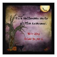 Gothic Night Sky Halloween Invitation