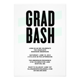 Grad Bash | Graduation Party Invitation