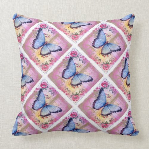 Grade A Cotton Throw Pillow 20x20/Butterfly