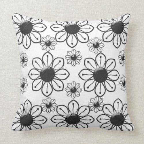 Grade A Cotton Throw Pillow 20x20/Flowers