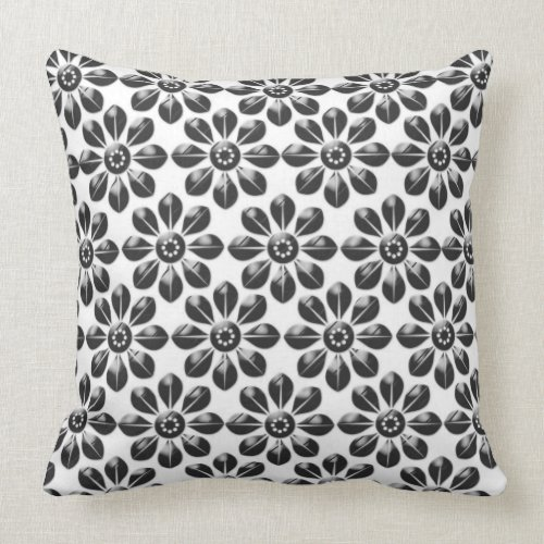 Grade A Cotton Throw Pillow 20x20/Flowers