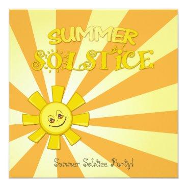 Gradient Summer Solstice Party Invitation