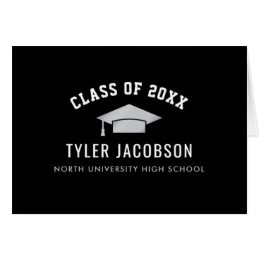 Graduation Class of 2018 | Black and Silver Card
