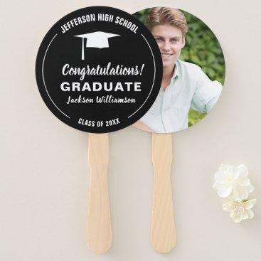 Graduation Fan Your School Color Graduate Photo