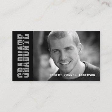 Graduation Name Card Photo - School Color Choice