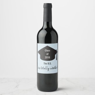 Graduation Themed Bottle Label