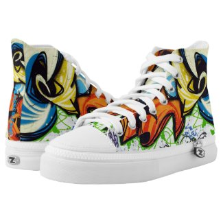 Graffiti HipHop Two Printed Shoes