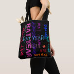 Graffiti style Repeating Rat Year 2020 Tote Bag