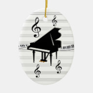 Grand Piano Keyboard Ornament