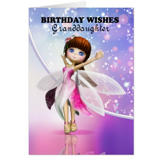 Granddaughter Happy Birthday Cute Fairy Dancing Card