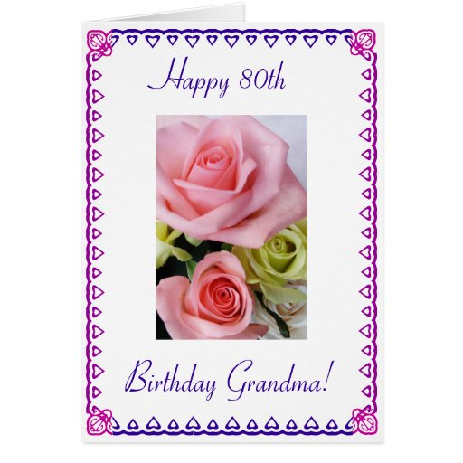 Grandma's 80th Birthday Card Zazzle