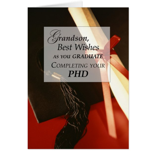 Grandson PHD Doctorate Graduation Wishes Card Zazzle Com