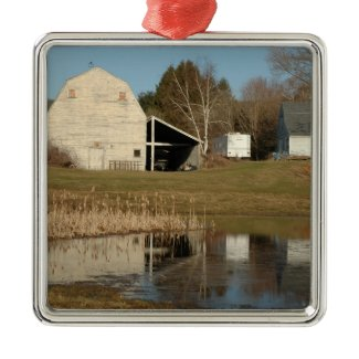 Gray Barn - Reflections of Serenity ornament