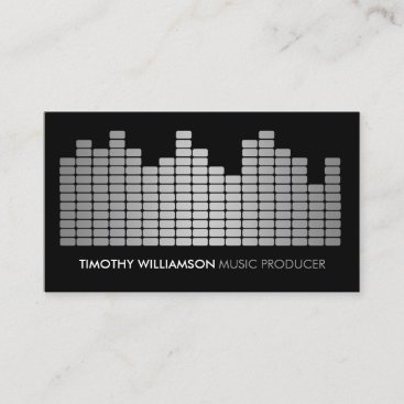 Gray Equalizer Musician, DJ, Band Business Card