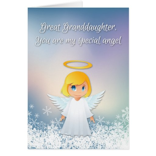 Great Granddaughter Angel Christmas Greeting Card Zazzle