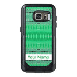 Green Abstract Design OtterBox Samsung Galaxy S7 Case