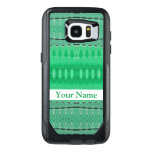 Green Abstract Design OtterBox Samsung Galaxy S7 Edge Case