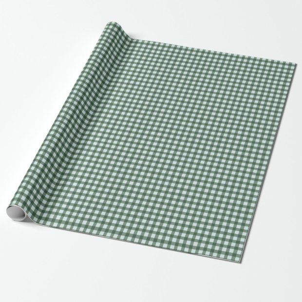 Green and Blue Buffalo Plaid Wrapping Paper