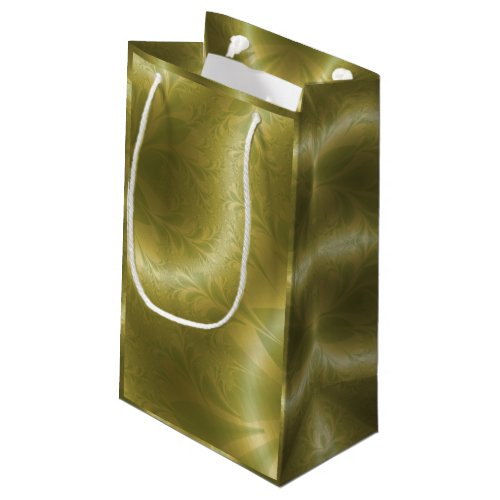 Green and Gold Paisley Small Gift Bag