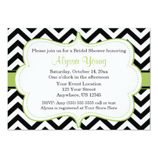 Black Green Chevron Invitations Amp Announcements Zazzle