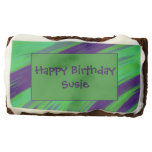Green Blue Color Swish Abstract Chocolate Brownie