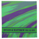 Green Blue Color Swish Cloth Napkin
