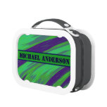 Green Blue Color Swish Lunch Box