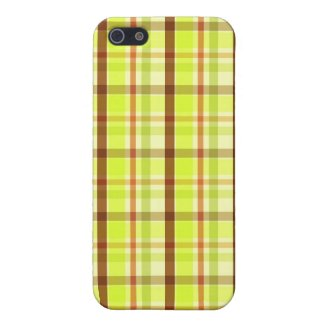 Green brown plaid - iPhone case Cover For iPhone 5