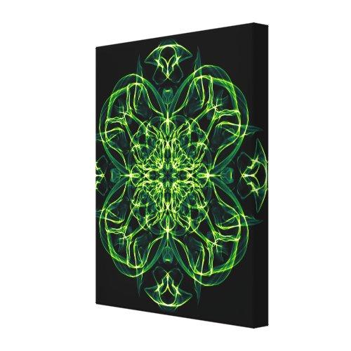 Green Celtic Cross & Clover Sacred Geometry Print