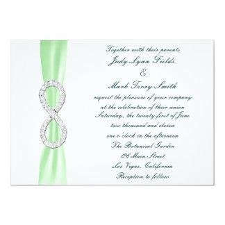 Green Diamond Infinity Wedding Invitation