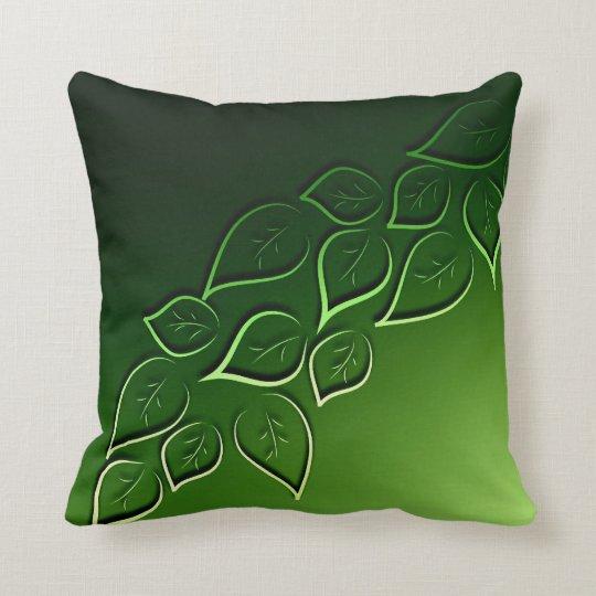 green leaves elegant modern throw pillow | Zazzle.com