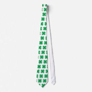Green lucky clovers - Tie tie