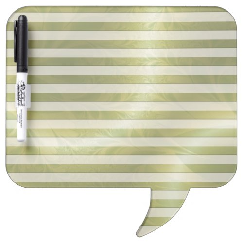 Green Paisley Lined Dry-Erase Board