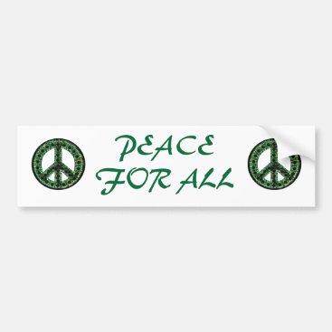 green peace for all bumper sticker