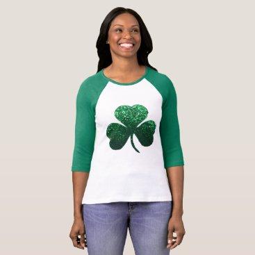 Green shamrock St. Patrick's Day women's shirt