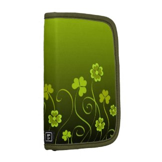 Green shamrocks and clovers organizers