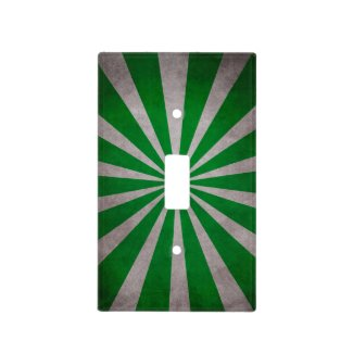 Green Starburst Switch Plate Cover