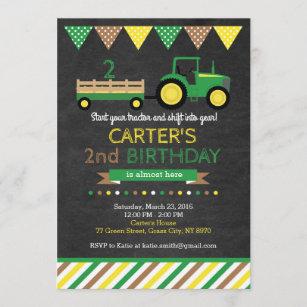 tractor birthday invitations zazzle