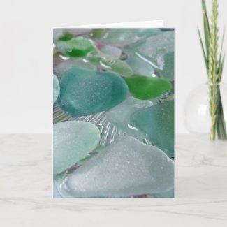 Green Vibrations Greeting Card card