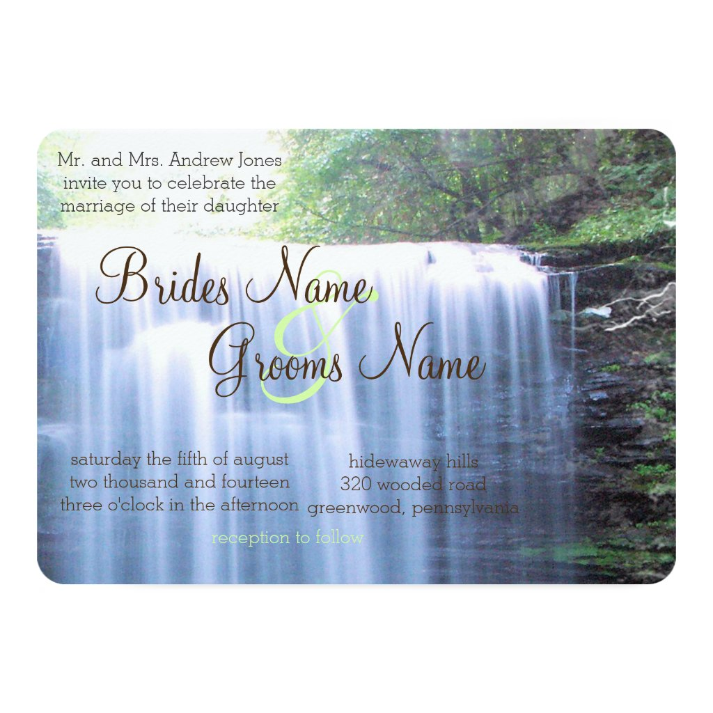 Greeny Nature Wedding Invitation